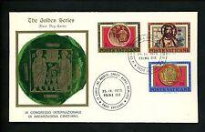 Postal History Vatican City FDC #579-581 Christian Archaeology 1975
