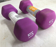 Lot Of 2 CAP Hex Neoprene 5 lb Pound Dumbbell Weights NEW Total 10 Lbs