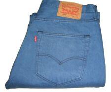 Hombre Levi's 501 Pantalones de Mezclilla Azul W36 L32 Pierna Recta