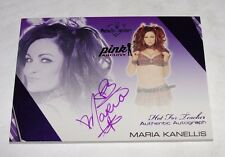 2016 Benchwarmer MARIA KANELLIS Hot For Teacher Purple Auto WWE Diva PLAYBOY Hot