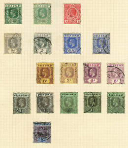 Gold Coast Stamp Collection On Album Page (Ref: J31)