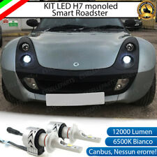 KIT LED H7 SMART ROADSTER 452 6500K CANBUS 12000LM LUMEN MONO LED LENTICOLARE