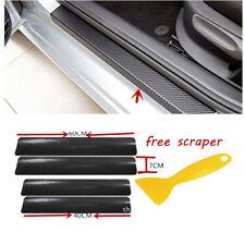4xAuto Anti-Kick Carbon Fiber Car Accessories Door Sill Scuff Protector Stickers