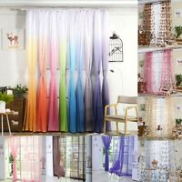 Fashion Colorful Sheer Curtain Panel Window Balcony Tulle Room Divider Valances