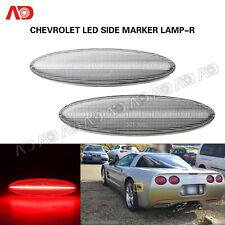 For Chevrolet Corvette C5 1997-2004 Clear Lens LED Side Marker Light Rear Red 2X
