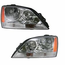 2005 2006 KA SORNTO HEAD LAMP LIGHT W/O SPORT PKG CHROME LEFT AND RIGHT PAIR SET