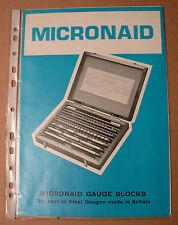 Micronaid Gauge Blocks Sales Leaflet