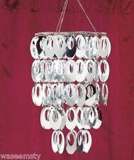 Posh Circle Chandelier Silver Shimmering Metallic Diva Chic Girl Room Home Decor