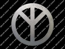 Metal Peace Sign Wall Art Hippie 60's 70's Retro Psychedelic Gypsy Flower Child
