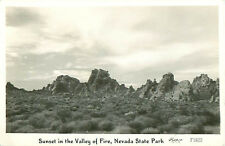RPPC Sunset in the Valley of Fire Nevada State Park Postcard F1822 Frashers