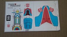 A Transformers premium quality replacement sticker/decal sheet for G1 Broadside
