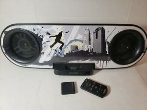 Sony RDH-SK8iP Graffiti Home Audio Docking Station with remote Bluetooth Adapter
