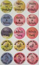 54 - 30mm Colour (Translucent) Round Name Label or Shoe Dot Diswasher Safe