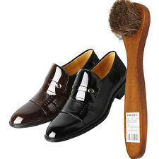 Long Wood Handle Bristle Brush Shoe Boot Polish Shine Cleaning Dauber PM