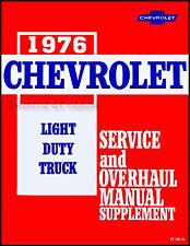 1976 Chevrolet Truck Repair Shop Manual Sup 76 Pickup Blazer Suburban Van Chevy