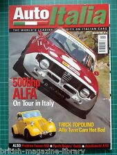 Auto Italia 75 Alfa Topolino Prodrive 550 Panda A112 Digi-Tec Ferrari 360 Furia