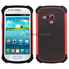 Hybrid Rugged Rubber Matte Hard Case Cover Skin for Samsung Galaxy S3 S III Mini