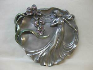 Art Nouveau Style Lady Wall Plaque ~ Past Times ~ Bronze Effect