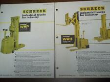 Shreck Industrial Truck Brochure Inserts~WHP/WRH~Specifications