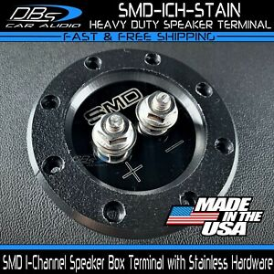 Steve Meade SMD Stainless 1 Channel Heavy Duty Subwoofer Speaker Terminal Cup