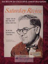RARE Saturday Review August 7 1954 OSCAR HANDLIN ALCOHOLISM JOHN WHARTON