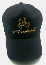 CAVALCADE vintage black adjustable cap / hat - 100% cotton