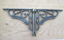 """6"""" PAIR of J DUCKETT antique Vintage cast iron shelf bracket Sink Toilet Cistern"""