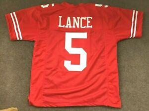 UNSIGNED CUSTOM Sewn Stitched Trey Lance Red Jersey - M, L, XL, 2XL