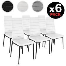 Pack 6 sillas de comedor modernas silla cocina diseño en Blanco, Negro y Gris