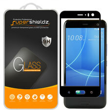 2X Supershieldz HTC U11 Life Full Cover Tempered Glass Screen Protector (Black)