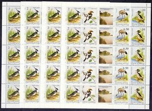 """19/12.YUGOSLAVIA - 1991 """" PROTECTED BIRDS -SC.2086 4 SHEETS OF 5 SETS,MNH,"""