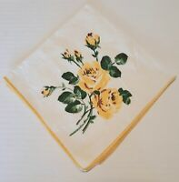 Sweet Vintage Yellow Rose , 4 Napkins and 8 Fabric Yellow Rose Placemats