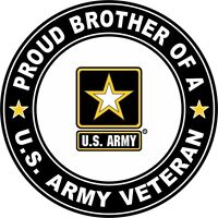 """Proud Brother of a US Army Veteran 3.8"""" Sticker / Decal 'Officially Licensed'"""