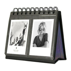 "Photo Album Calendar Vertical Book for Polaroid Fujifilm 3"" 68 Pocket Black"