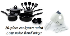 Keimav 20-piece Cookware with Nylon Utensil w/ Low Noise Hand Mixer
