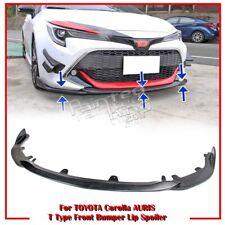 Unpainted For TOYOTA Corolla AURIS E210 12th 5DR Front Bumper Lip Spoiler 19-20
