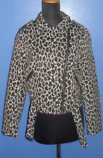 [NWT] JUST JEANS Leopard Print Biker-Style Jacket (Size 14)
