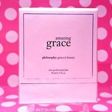 Philosophy AMAZING GRACE FINE PARFUM 1.7 OZ SIZE! PERFECT!  SEALED!  BOXED!