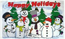 Happy Holidays Flag 3x5ft Holiday House Flag Seasonal Decor Christmas Flag