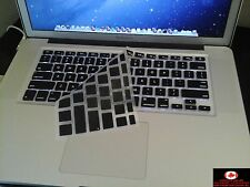"Ultra Thin Keyboard Protector Skin for Apple Macbook Pro 13"" 15"" 17""  Black"