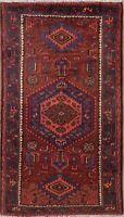 Malayer Geometric Oriental Area Rug Wool Hand-Knotted Nomad Carpet 4x8 CLEARANCE