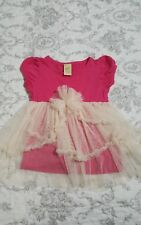 Girls boutique BMB Couture pink tulle top size 3T Mia Belle Baby