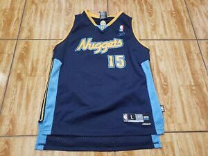 Reebok Carmelo Anthony Denver Nuggets Youth Large Blue Basketball Kids Boys