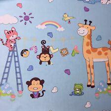 160 x50cm Monkey Cat Bird Frog Giraffe Cartoon Cotton Twill Sewing Quilt Fabric