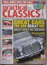 Practical Classics magazine July 2005 featuring Jaguar, Mini, Rover, TVR, VW, MG