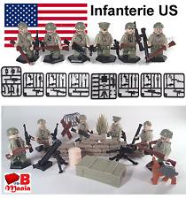 Armée USA soldats américains armes accessoires WW2 compat LEGO militaire