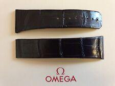 Omega Constellation 24mm Aubergine Crocodile Deployment Strap No 98000341