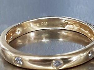 18ct Gold & Diamond Eternity Stack Ring. Size P. Ref xacodmx