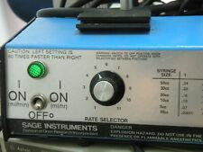 Sage Instruments Syringe Pump 341a Parts Repair