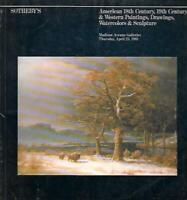 Sotheby's American & Western Paintings Sculpture Auction Catalog April 1981